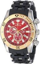 Invicta Men's 13855 Sea Spider Chronograph Dial Black Polyurethane Watch