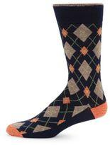 Saks Fifth Avenue Geometric Cotton-Blend Socks