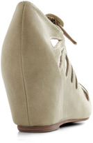 Jeffrey Campbell Cutout Cookie Wedge in Sage