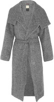 By Malene Birger Eclipse Belted Brushed Woven Coat - Gray