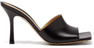 Bottega Veneta Stretch Square-toe Leather Mules - Womens - Black