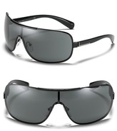 Metal Shield Wrap Sunglasses