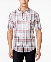 Alfani Men's Plaid Short-Sleeve Shirt, Created for Macy's