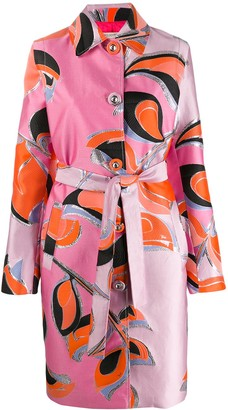 Emilio Pucci Patterned Single-Breasted Coat