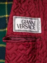 Versace Pre-Owned 1990s checked double-breasted coat