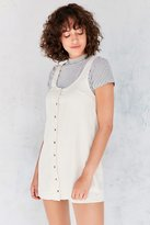 Silence & Noise Silence + Noise Washed Button-Front Mini Dress