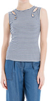 Max Studio Striped Cutout Tank Top