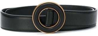 Saint Laurent Circle Buckle Adjustable Belt