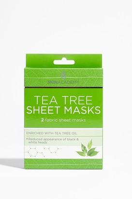Nasty Gal Womens Skin Academy 2-Pc Tea Tree Sheet Mask Set - Green