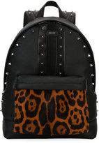 Bally Hingis Studded Leather & Calf Hair Backpack