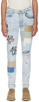 Amiri Blue Grateful Dead Thrasher Jeans