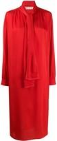 Marni scarf detail midi dress
