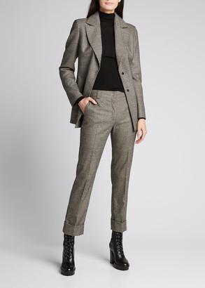Akris Double-Face Plaid Cotton Jacket