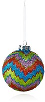 Bloomingdale's Glitter Zigzag Glass Ball Ornament - 100% Exclusive