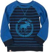 Hatley Raglan Sweater (Toddler/Kid) - Blue/Mischief-8