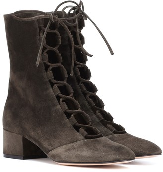 Gianvito Rossi Exclusive to Mytheresa Delia suede ankle boots