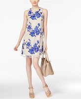 ECI Tie-Back Embroidered Mesh Dress