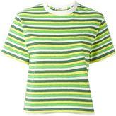 Julien David striped cropped T-shirt - women - Cotton - XS