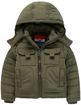 Panegy Boys Coat Hoodies Zipper Up Pockets Windproof Insulated Kids Jacket 5T Army