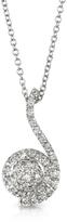 Forzieri 0.34 ctw Diamond Pave 18K White Gold Pendant Necklace