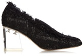 Simone Rocha Perspex-heel tweed loafers