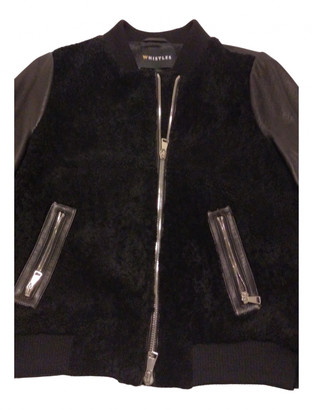 Whistles Black Leather Jackets
