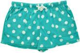 Angelina Aqua Dot Side-Pocket Fleece Boxers - Plus Too