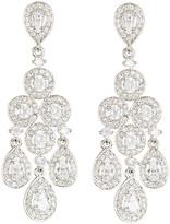 Nadri Framed Round & Pear Chandelier Earrings