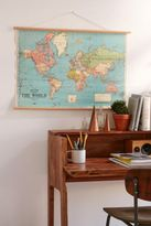 Urban Outfitters Hanging World Map Art Print