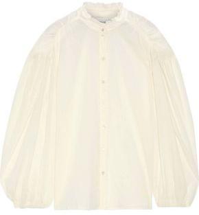 Antik Batik Lara Ruched Cotton-gauze Blouse