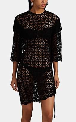 IRO Women's Lisal Cotton Crochet Fitted Dress