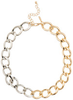 Natasha Accessories Two-Tone Link Necklace