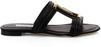 Tod's Double-T Leather Sandals