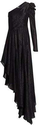 AMUR Esmerelda Shimmer Asymmetric Dress