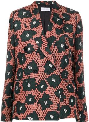 Christian Wijnants daisy print double-breasted blazer
