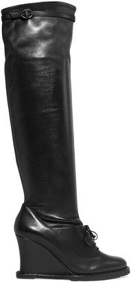Bottega Veneta Leather Wedge Knee Boots
