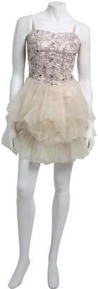 Little Mistress Cream and Nude Applique Tutu Dress