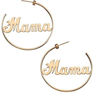 Jennifer Zeuner Jewelry Brooklyn 14K Goldplated Sterling Silver Mama Hoop Earrings