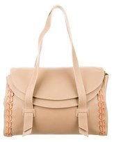 Malo Whipstitch-Accented Leather Shoulder Bag