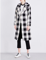 Belstaff Lowther checked cotton-blend coat