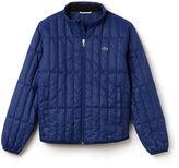Lacoste Men's Built-in Hood Quilted Jacket