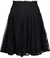 Maje Jama Shirred Lace Mini Skirt