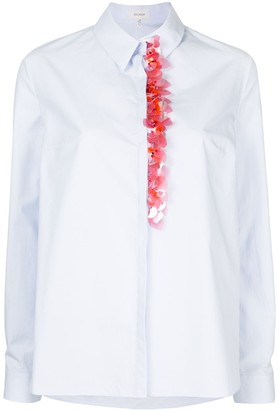 DELPOZO Sequined Long-Sleeve Shirt