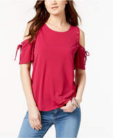 INC International Concepts I.n.c. Cold-Shoulder Lace-Up Top, Created for Macy's