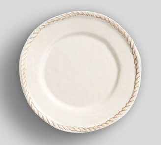 Pottery Barn Rope Melamine Salad Plate - Turquoise