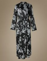 Marks and Spencer Floral Satin Long Wrap