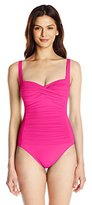 LaBlanca La Blanca Women's Island Goddess Over The Shoulder Sweetheart Mio One-Piece Swimsuit
