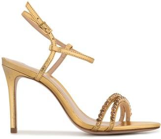 Schutz Strass metallic sandals