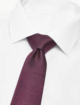 Marks and Spencer Pure Silk Made in Italy Textured Tie