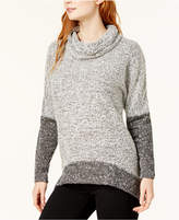 Bar III Colorblocked Cowl-Neck Top, Created for Macy's